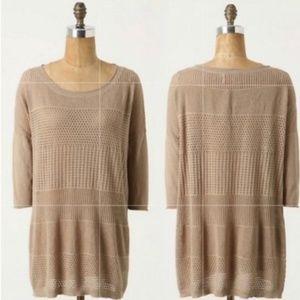 Yoon Anthropologie Tan Textured Sweater